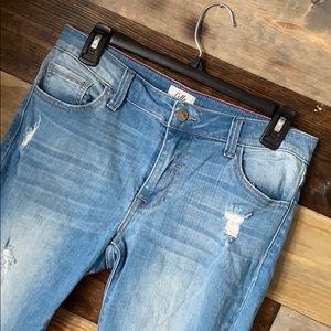 Women's Distressed Skinny Jeans Size 7